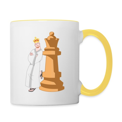 Samurai with Queen - Contrasting Mug