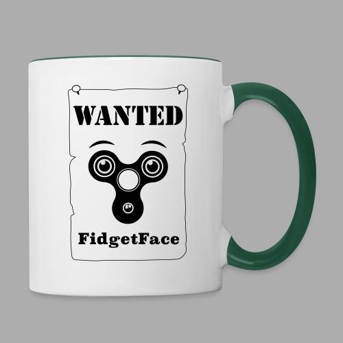Fidget Spinner Face Wanted - Contrasting Mug