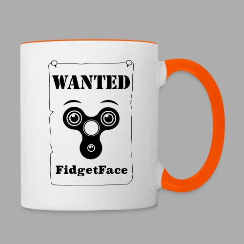 Fidget Spinner Face Wanted - Contrasting Mug