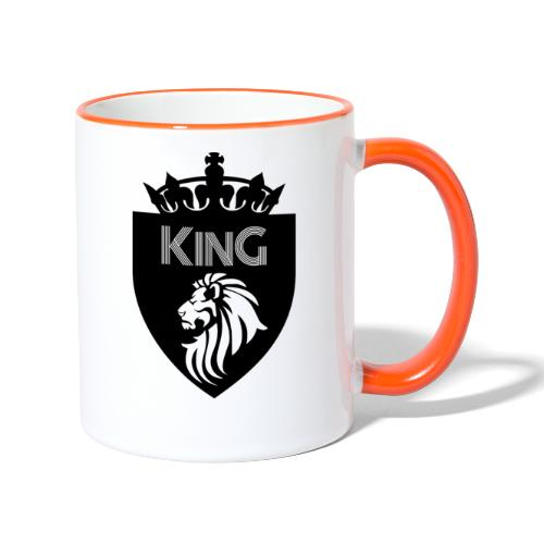 king - Mug contrasté