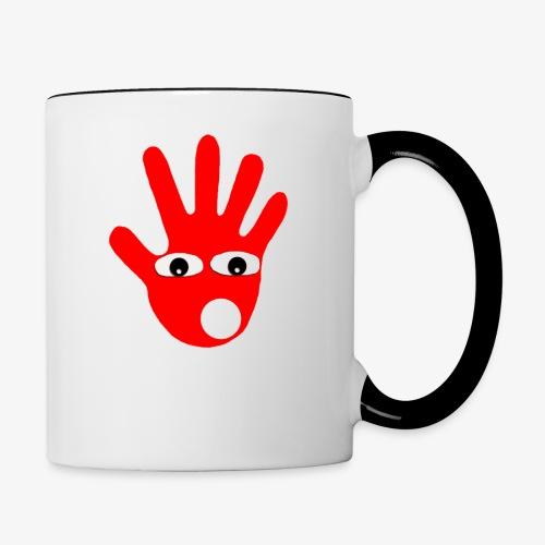 Hände mit Augen - Mug contrasté