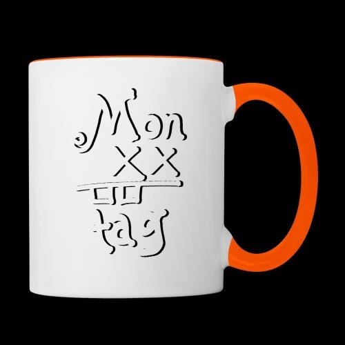 Montag x_x - Tasse zweifarbig