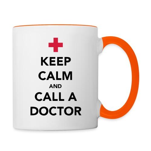Keep Calm and Call a Doctor - Contrasting Mug