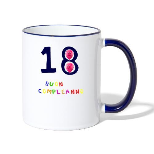 18 BUON compleanno - Tazze bicolor