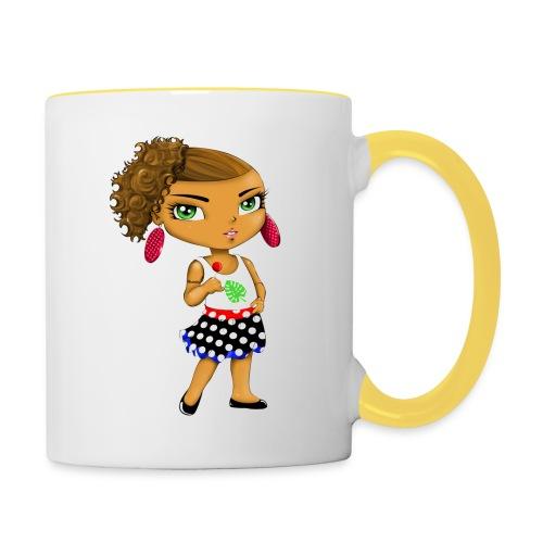 Manga chibi cute - Mug contrasté