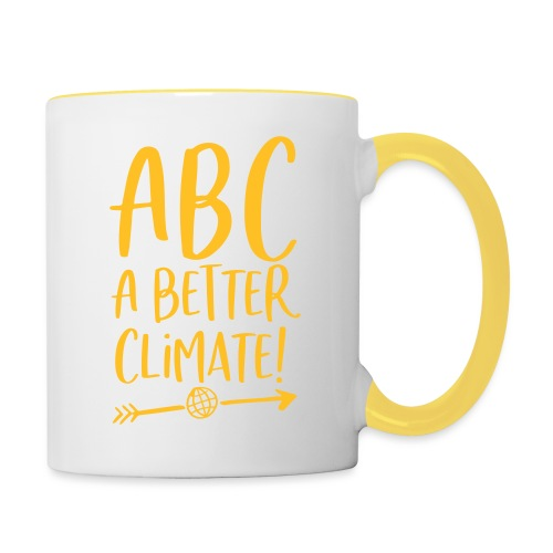 ABC a better climate - my days for future - Tasse zweifarbig