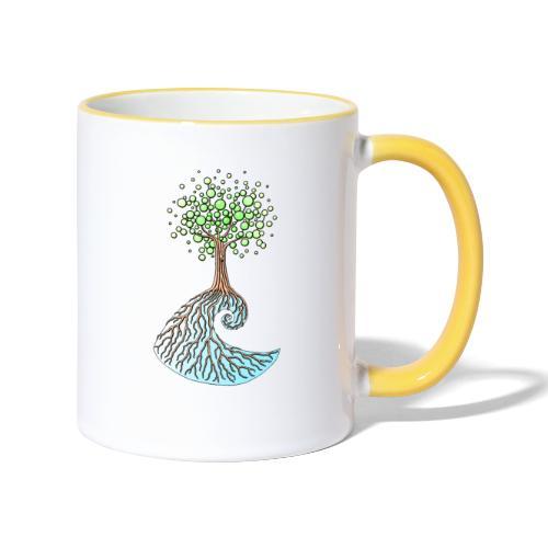 Wellenbaum - Tasse zweifarbig