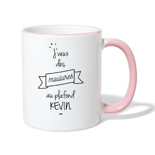 J veux des moulures au plafond kevin - Mug contrasté