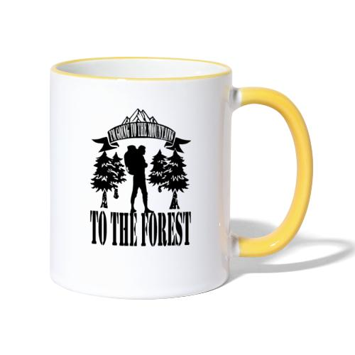 I m going to the mountains to the forest - Contrasting Mug