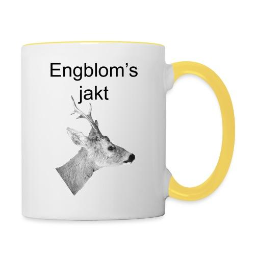 Officiell logo by Engbloms jakt - Tvåfärgad mugg