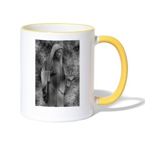 Jungfrau Maria, Medjugorje, schwarz weiß - Tasse zweifarbig