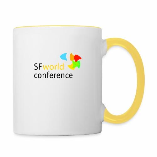 SFworldconference T-Shirts - Tasse zweifarbig