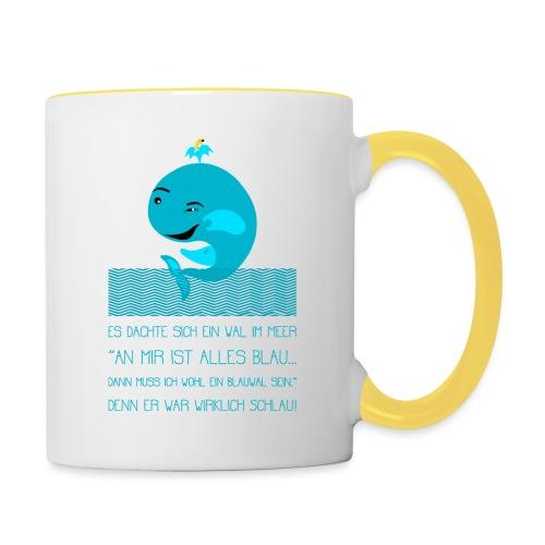 Blauwal - Tasse zweifarbig