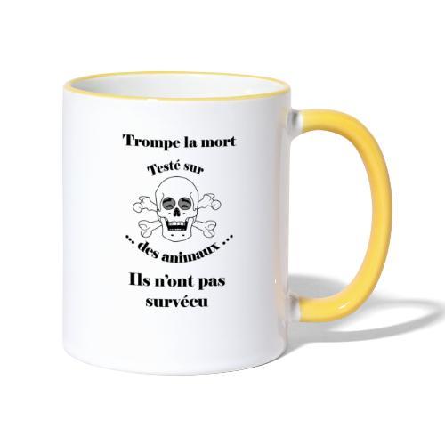 Trompe la mort «rieur» Test animal FC - Mug contrasté