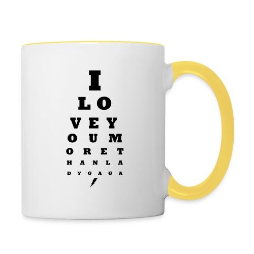 GoGo for GAGA - I love you more than Lady G... - Contrasting Mug