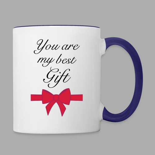 you are my best gift - Contrasting Mug