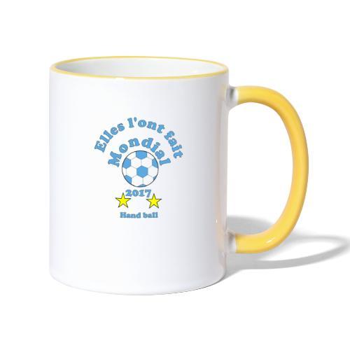 handball mondial 2017 femme bleu - Mug contrasté