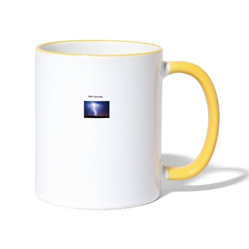 Blitz Einschlag - Tasse zweifarbig