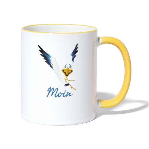 Moin Lachmöwe - Tasse zweifarbig