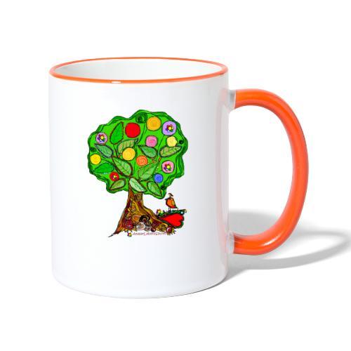 LebensBaum - Tasse zweifarbig