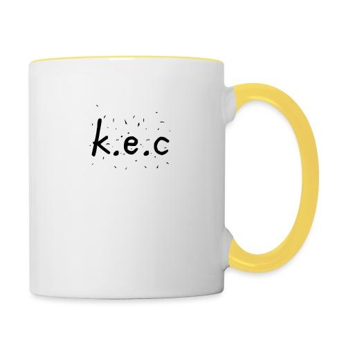 K.E.C basball t-shirt - Tofarvet krus