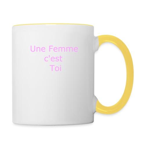 Une Femme c'est toi - Mug contrasté