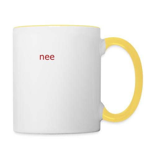 nee t-shirts - Mok tweekleurig