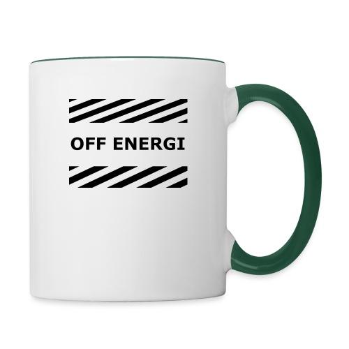OFF ENERGI officiel merch - Tvåfärgad mugg