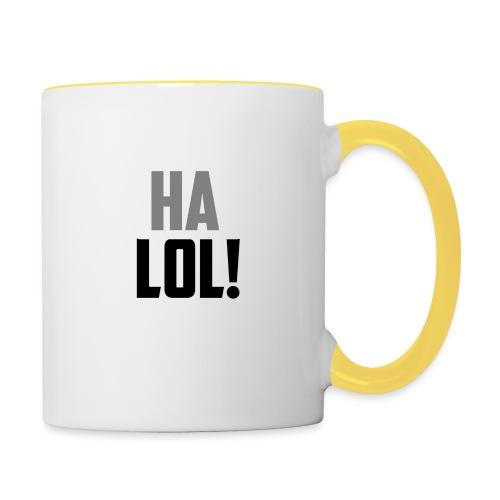 The CrimsonAura 'Ha LOL!' Stream Quote. - Contrasting Mug