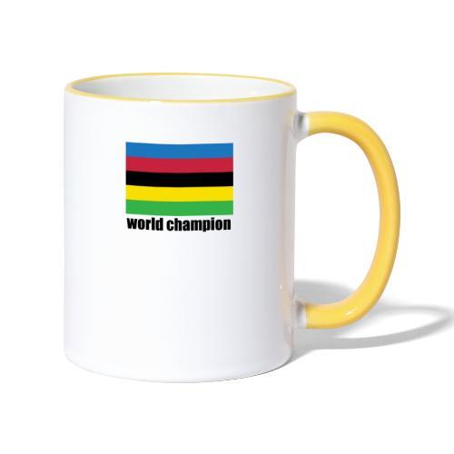 world champion cycling stripes - Mok tweekleurig