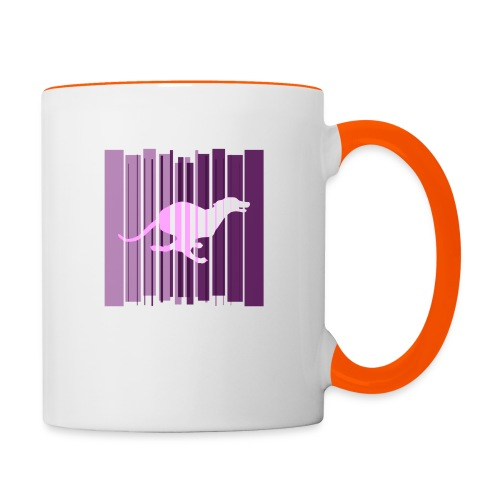 Sighthound In Purple Women's T - Contrasting Mug