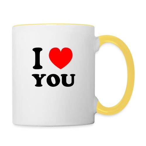 Sweater met i love you - Mok tweekleurig