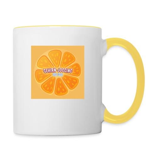orangetextur - Tasse zweifarbig