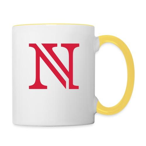 N allein - Tasse zweifarbig