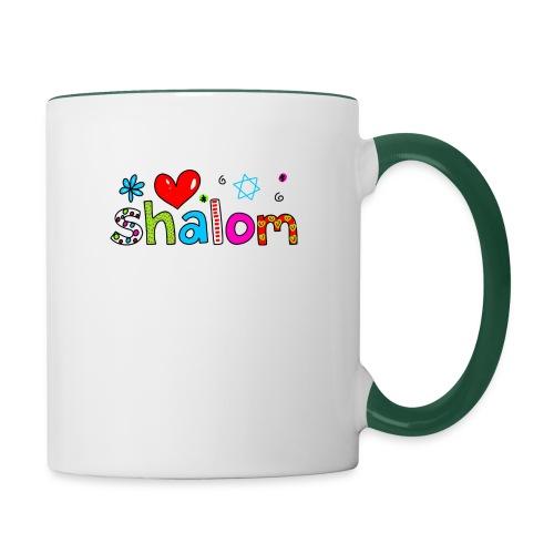 Shalom II - Tasse zweifarbig