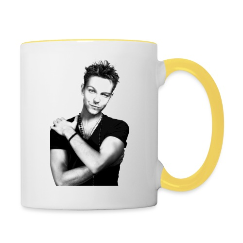 handsome guy - Contrasting Mug