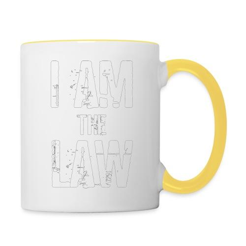 Tank top girl woman I AM THE LAW per avvocatessa - Contrasting Mug