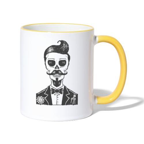 RT Skull Gentleman - Tasse zweifarbig