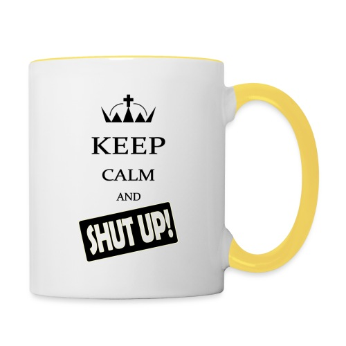 keep_calm and_shut up-01 - Tazze bicolor