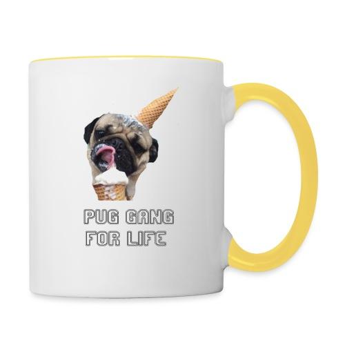 Pug Gang For Life. - Contrasting Mug