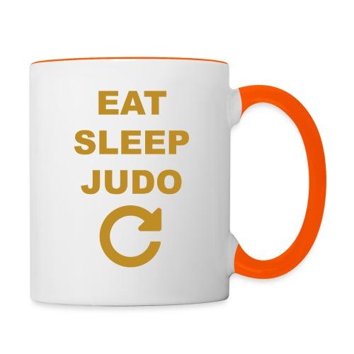 Eat sleep Judo repeat - Kubek dwukolorowy