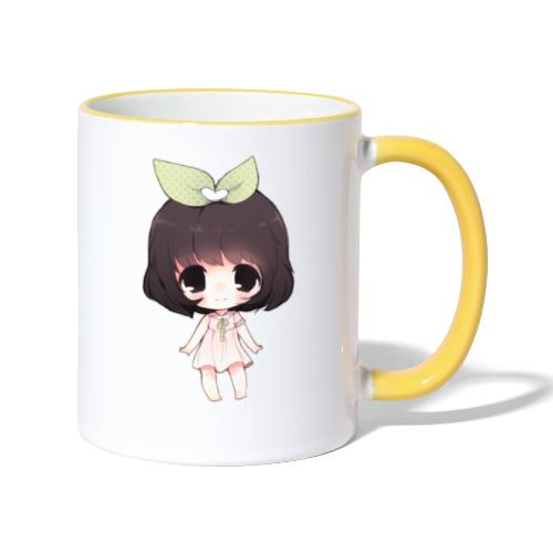 Cute anime girl chibi - Contrasting Mug