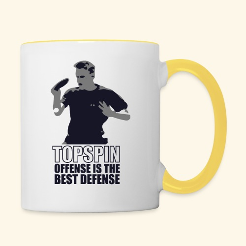 Good slashing serve table tennis - Tasse zweifarbig