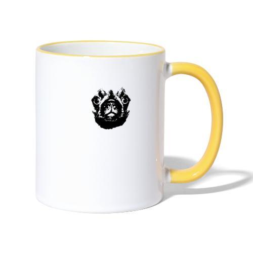 Mops Hund Hunde Möpse Geschenk - Tasse zweifarbig