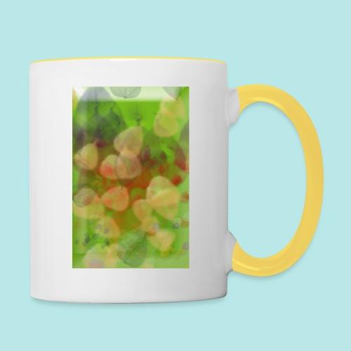 Blätter - Tasse zweifarbig