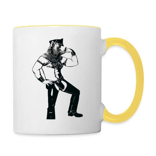 Grrr leather bear - Mug contrasté