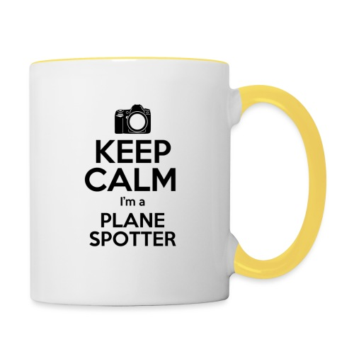 Keep Calm PlaneSpotter - Tazze bicolor