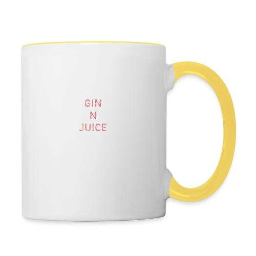 Gin n juice geschenk geschenkidee - Tasse zweifarbig