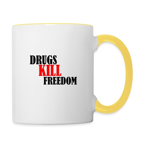 Drugs KILL FREEDOM! - Kubek dwukolorowy