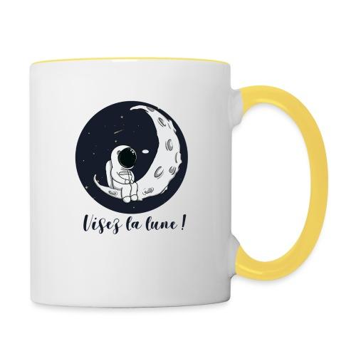 Visez la lune ! - Mug contrasté